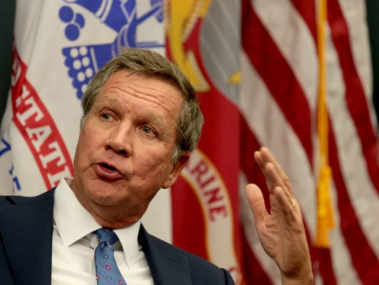 Ohio Governor and GOP presidential candidate John Kasich