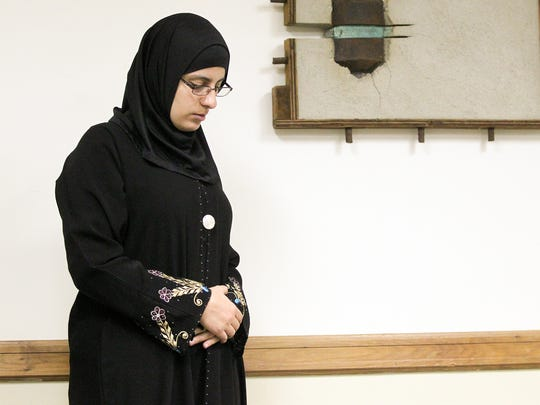 University of Iowa Ph.D. student Widad Abdalla participates