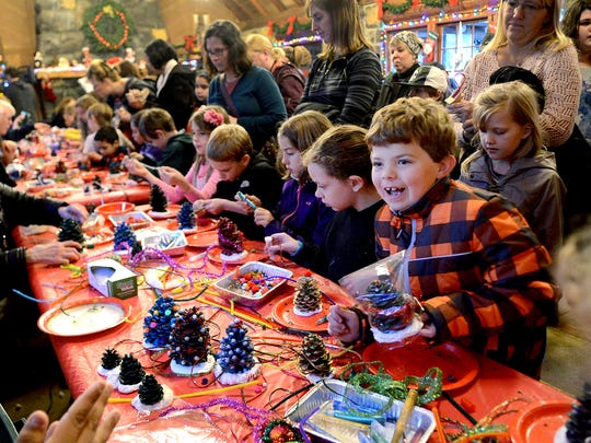 Children can make a variety of crafts during the 38th annual Christmas Festival at Silver Falls State Park, a family event taking place 11 a.m. to 4 p.m. Saturday and Sunday, Dec. 12-13.
