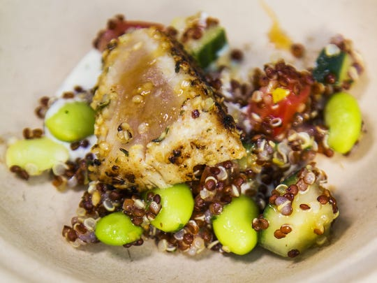 Hemp seed crusted albacore from Phoenix City Grille