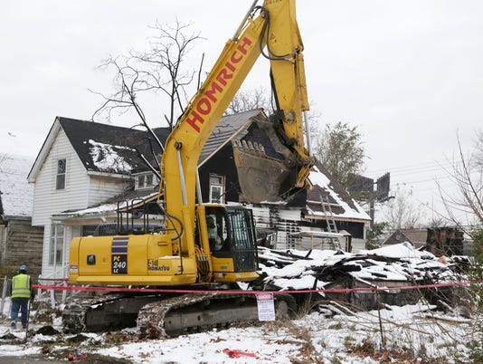 Blight demolition in Detroit