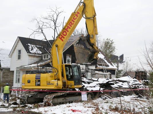Blight demolition in Detroit