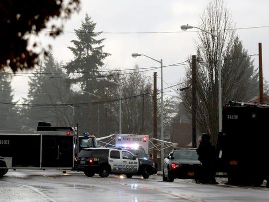 Salem Police serve a search warrant near Hawthorne