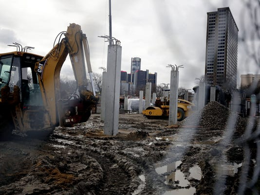 Downtown Detroit construction