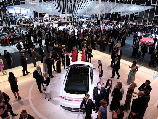 2016 Charity Preview event at the Detroit auto show
