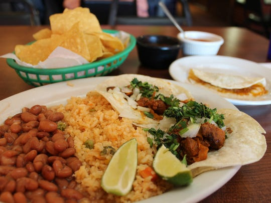 The two-taco lunch special at Senor Lopez Mexican Restaurant in Southwest Detroit.