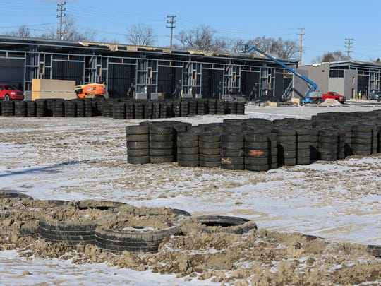 Thousands of tires donated by Cooper Tires will be