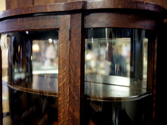 Fabuless Finds is a consignment shop located at 16160 King Road in Riverview. Resale furniture is popular right now. At Fabuless Finds in Riverview, shoppers can find antiques or other special pieces including this tigerwood curio cabinet selling for $329.99.