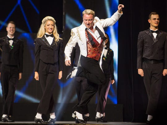 """Michael Flatley brings his """"Lord of the Dance: Dangerous Games"""" to the Palace on Tuesday."""