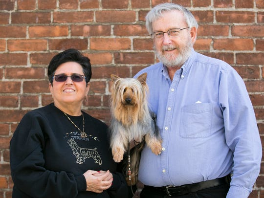 Carol Infranca, her silky terrier, Pricey, and her husband Lee Schlenker were at Holding Court on Tuesday. Pricey is the daughter of Flash, who won the Select competition at the Westminster Kennel Club Dog Show in New York City last week.