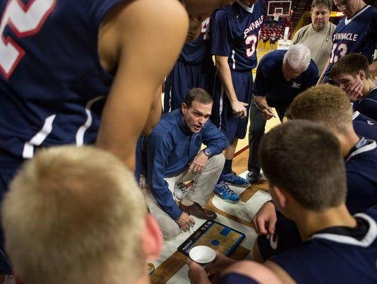 Pinnacle High School head coach Charlie Wilde speaks