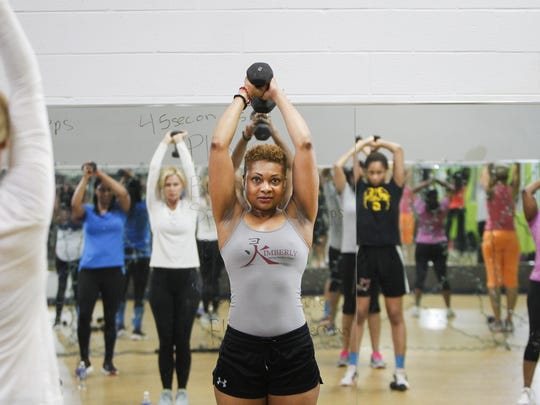 46-year-old bodybuilder Kimberly Whitfield of Lansing