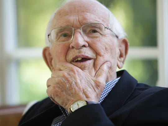 Palmer Heenan, 93, mayor of Grosse Pointe Park for 31.5 years, talks about his tenure overseeing changes in his suburb next to Detroit at his daughters home in Grosse Pointe Farms on Monday July 27, 2015.