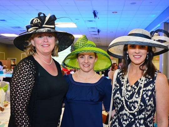 Karin Parde, Kris Johnson and Sara Davy at the Art of Fashion, benefiting Covenant Hospice.