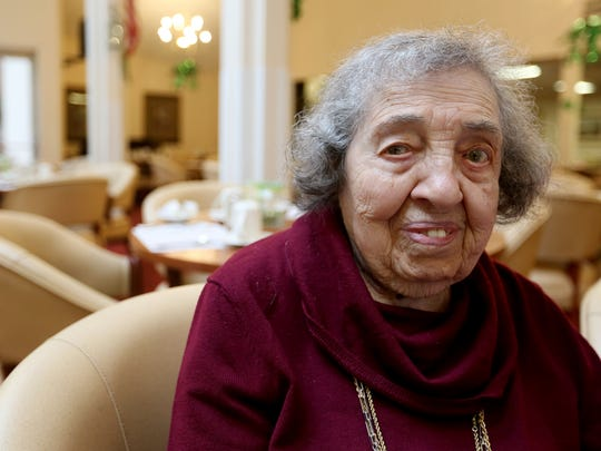 Rachel Kalb, 104, at Madrona Hills Retirement Living in Salem on Wednesday, March 9, 2016.
