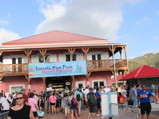 New cruise ship welcome center opened in February in Tortola, British Virgin Islands; the pier was recently extended to accommodate large cruise ships.