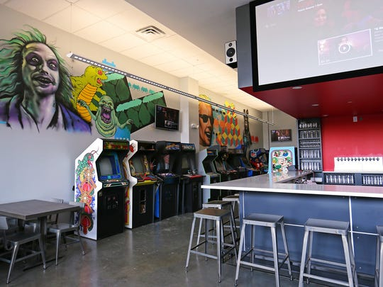 Tappers Arcade Bar on Virginia Avenue in Fletcher Place, Indianapolis, Ind., Friday, March 11, 2016. The bar will offer free play on all games but pinball, which will cost a quarter per play.