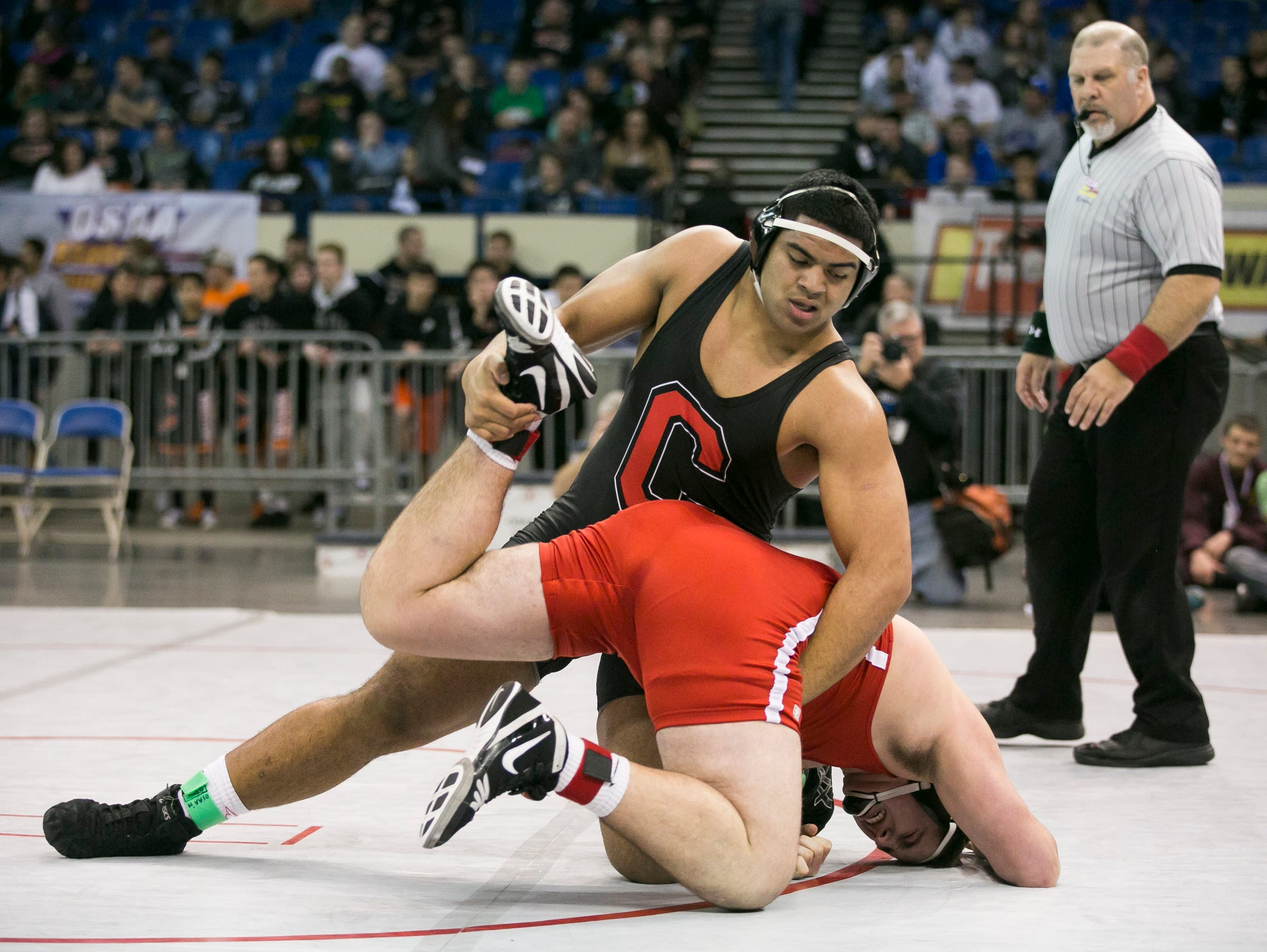 Central's Marlon Tuipulotu is a finalist for the All-Mid-Valley wrestler of the year.
