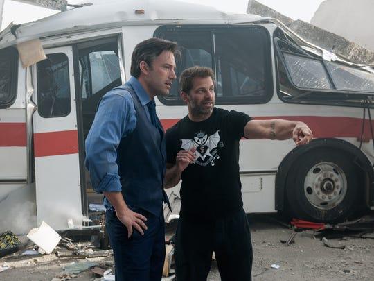 Ben Affleck, left, and director Zack Snyder on the