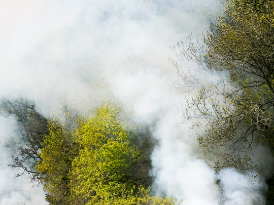 Smoke from an agricultural burn near Eola Drive NW and Doaks Ferry Road NW in West Salem drifted through the city throughout the morning and afternoon on Tuesday, April 5, 2016. The fire is part of a scheduled, controlled burn and could continue until 5 p.m.