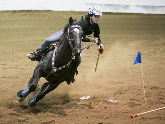 Silverton High School's Sarah Potter competes at a