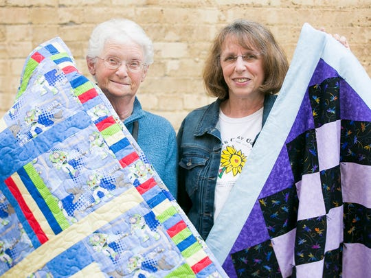 Mary Perin (left) and Linda Anderson (right) with Alexia's Cozy Covers have planned a fabulous fabric sale for Friday and Saturday.