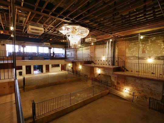 An interior view of the Fine Arts Theatre in Detroit,