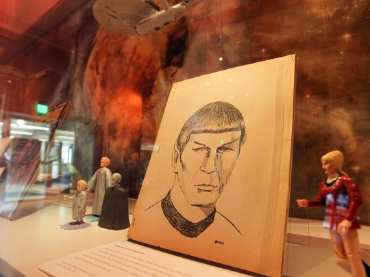 Star Trek memorabilia is pictured at the University
