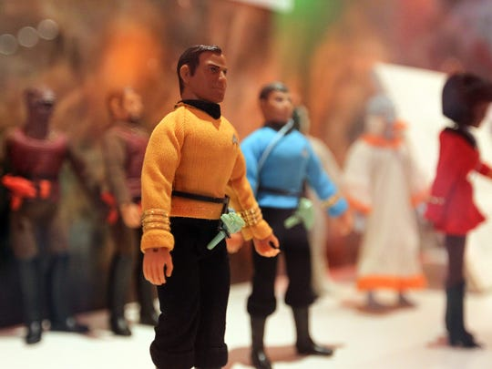 Star Trek collectible figurines are pictured at the