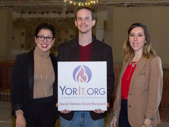 Toni Calderone and Allison Given receive a $20,000 from the York County Community Foundation grant for their project Taste Test, A Pop Up Restaurant Series.