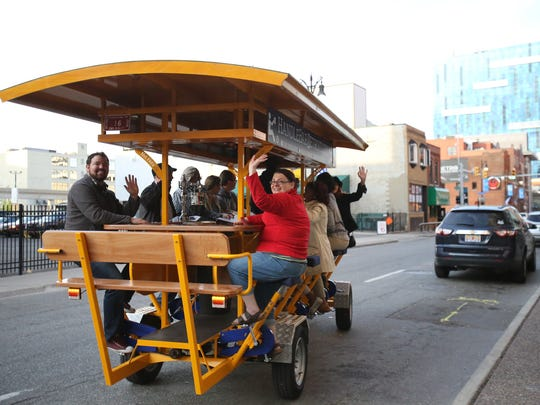 The HandleBar Detroit takes partying pedalers around downtown Detroit.