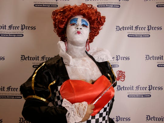 Motor City Comic Con 2016 attendee Jasia Solomon, 15, of Southfield shows her masterful replica of the Red Queen at the Suburban Collection Showplace in Novi Friday May 13, 2016. Mandi Wright/Detroit Free Press