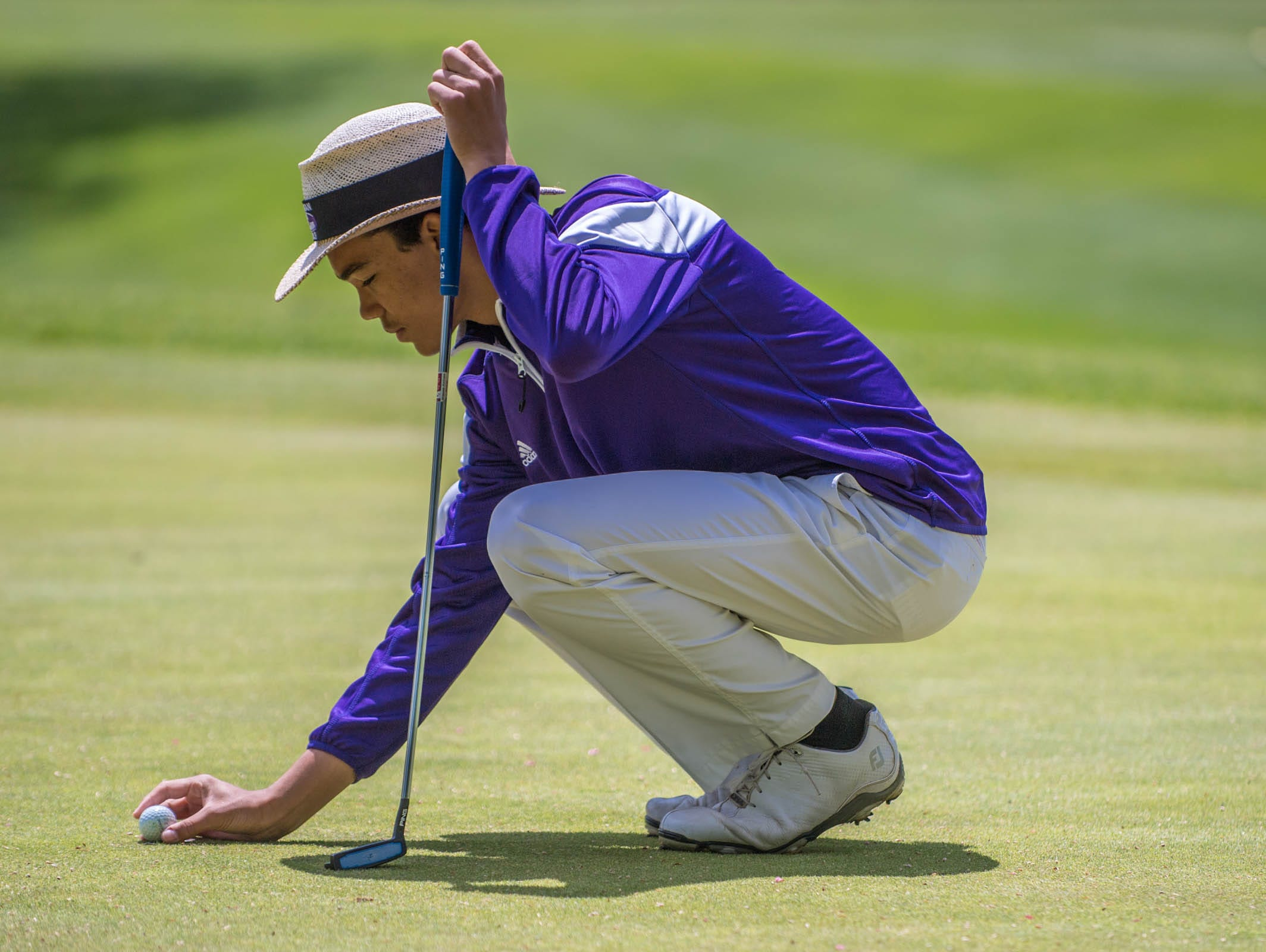 Lakeview's Andrew Walker during All City High School Golf at Riverside Golf Club on Friday.