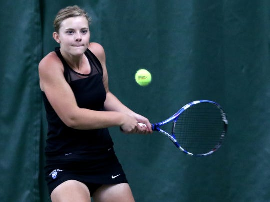 McNary's Hannah Childress competes in the girl's singles