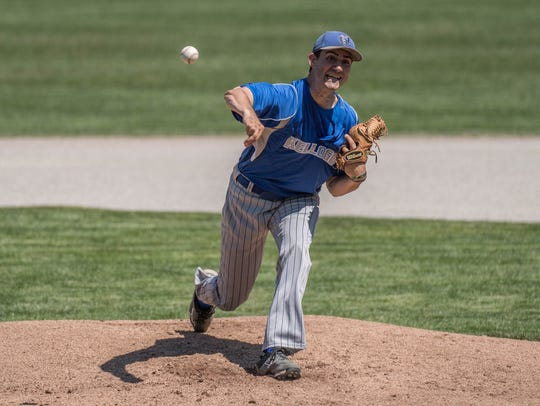 KCC's Tate Brawley throws during first round action