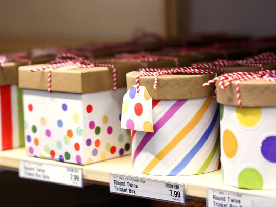 Large selection of gift wrapping options at The Container Store, coming to Novi.