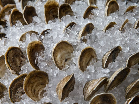 Rose Cove oysters from Forty North Oyster Farms in
