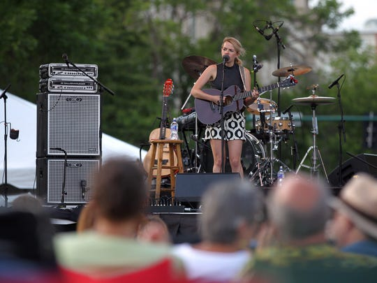 Aoife O'Donovan performs at the Iowa Arts Festival on Friday, June 3, 2016.