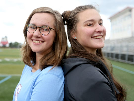 Juniors Jillian Studer, left, and Loryn Studer are nominated for an award in the Statesman Journal's Mid-Valley Sports Awards to be held in June. Photographed at South Salem High School on Tuesday, May 24, 2016.