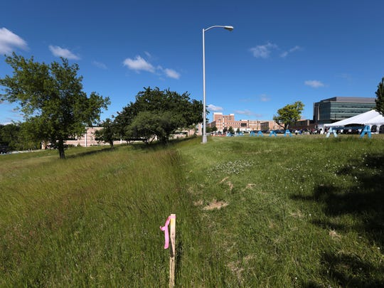 The site for the new 750-bed student housing facility on the campus of Oakland University in Auburn Hills.