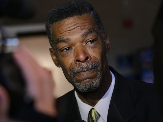 Flint City Councilman Eric Mays gets emotional while