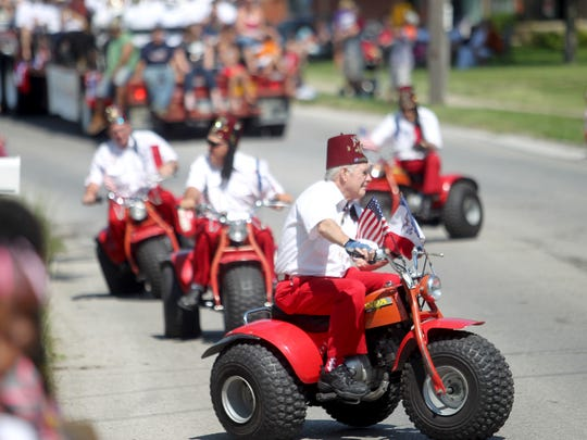The Shriners during the annual Forth Fest parade on Thursday, July 4, 2013.