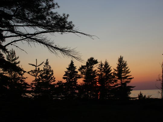 Sunset at the new rustic campground at Wilderness State
