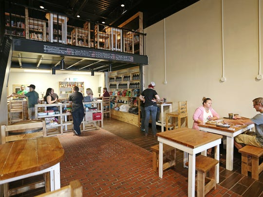 The new Books & Brews location in Zionsville during its soft opening June 29 for mug club members.