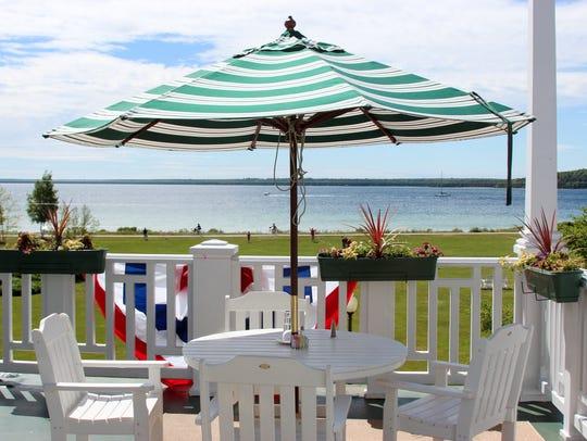 Mission Point Resort on Mackinac Island is lightening
