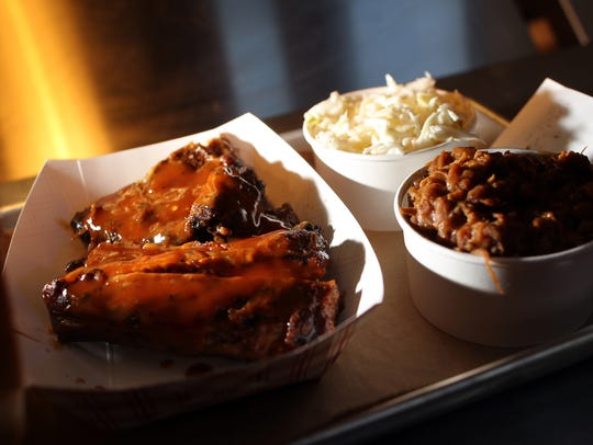 Mosley's features Carolina-style barbecue standards,