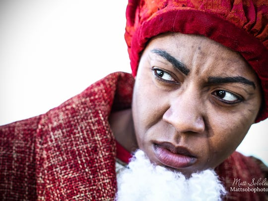 """Morgan Breon as Shylock in Shakespeare in Detroit's staging of """"The Merchant of Venice."""""""
