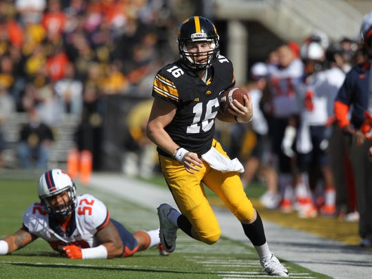 Iowa quarterback C.J. Beathard is on the watch list for an award along with teammate Desmond King.