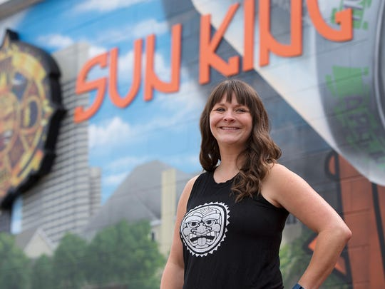 """I love talking about my city, and I love talking about a product that I really, truly believe in,"" says Beth Belange, promotions director at Sun King Brewing in Indianapolis."