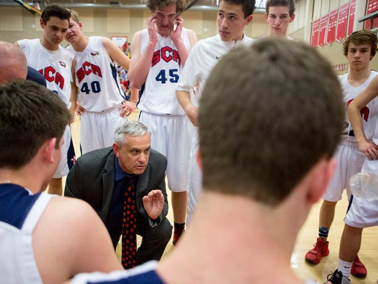 """""""I'm quick to tell (parents) that it's not like Burger King, that you can't have it your way all the time,"""" said Scottsdale Christian boys basketball coach Bob Fredericks."""